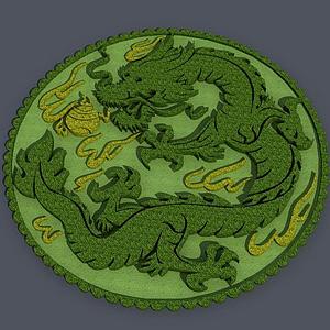 3d环岛中国龙景观模型