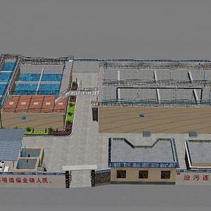 水廠設備模型