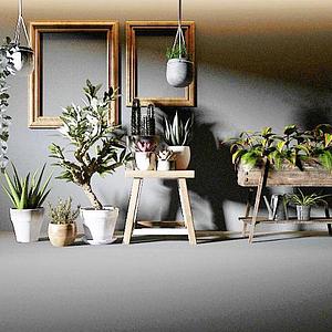北歐植物組合模型