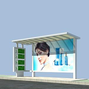公交站臺模型