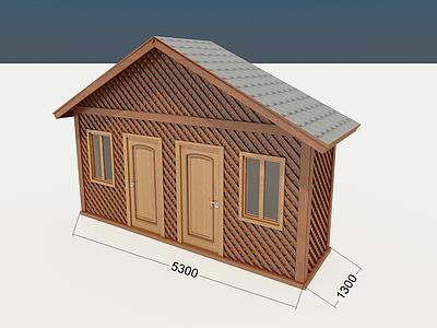 3d木屋<font class='myIsRed'>工具</font>房模型