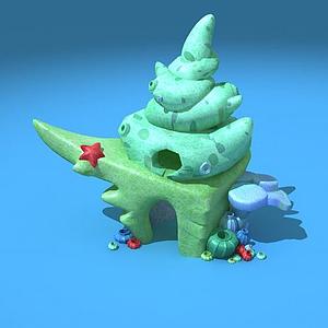 貝殼小屋模型