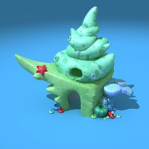 3d贝壳小屋模型