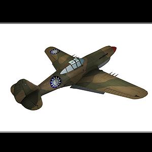 國民黨戰機P40模型