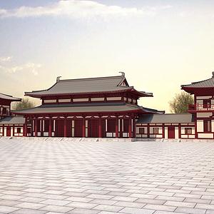 唐式建筑模型