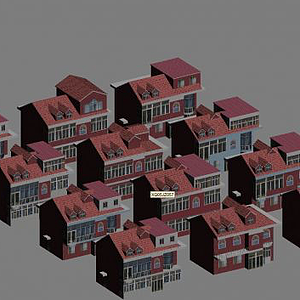 3d別墅建筑模型