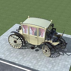 歐式馬車模型