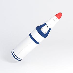 3d巨浪一号潜地导弹模型