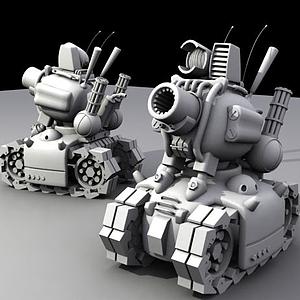 合金彈頭中的小坦克模型