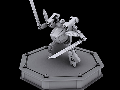 3d百變機獸龍卷風機器人模型