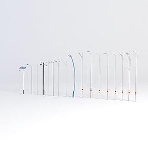 高桿燈路燈模型