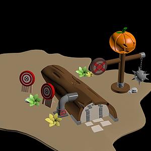 Q版樹屋模型