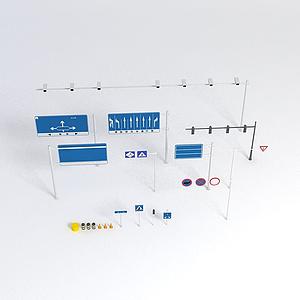 交通指示牌標識模型