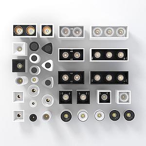 各種筒燈模型