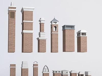3d煙囪模型