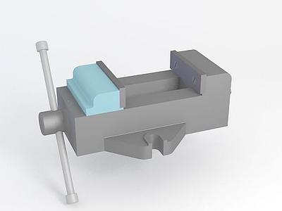 3d臺虎鉗器材模型
