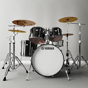 3d雅马哈架子鼓模型