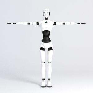 3d男性<font class='myIsRed'>機器人</font>模型