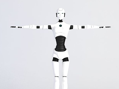 3d男性機器人模型