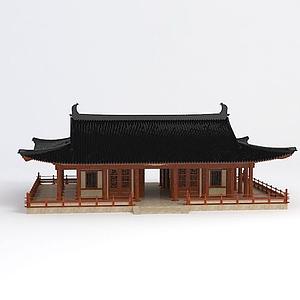 3d唐风<font class='myIsRed'>古建筑</font>模型