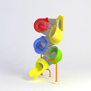 兒童滑梯游樂設備模型