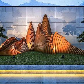 現代園藝假山模型