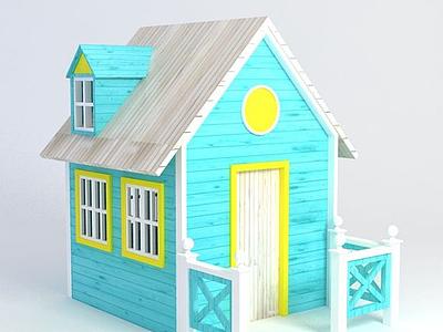 3d積木<font class='myIsRed'>房子</font>模型