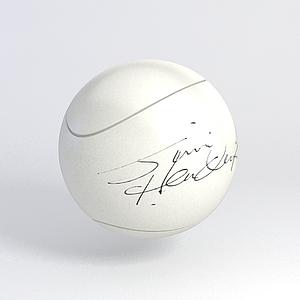 簽名網球模型