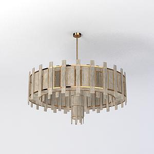 客廳吊燈模型
