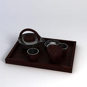 現代茶具模型