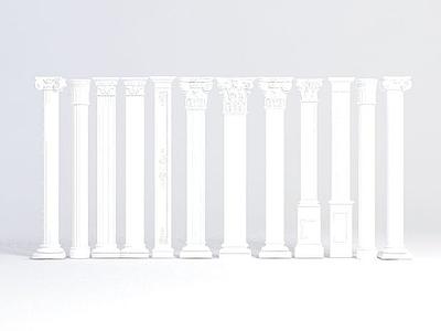 歐式柱子模型3d模型