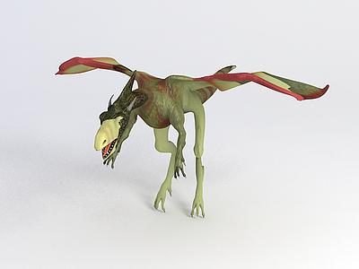 翼龍恐龍模型3d模型