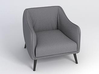 灰色沙發椅模型