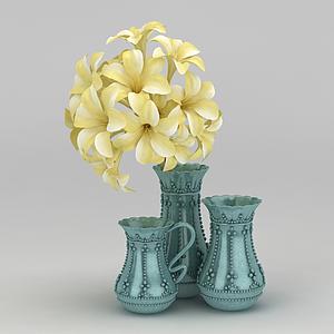室內裝飾花模型