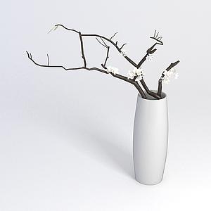 花瓶陳設品模型