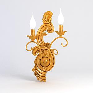 雕花壁燈模型