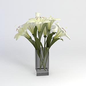 3d百合花模型