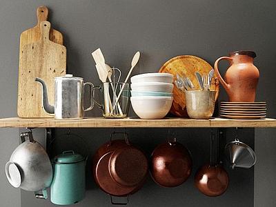 鍋碗瓢盆模型3d模型