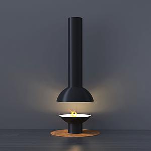 現代創意桌面燈臺燈模型