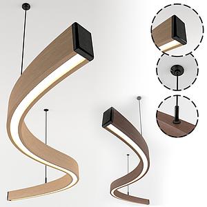 現代s型吊燈模型