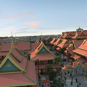 3d東南亞,寺廟模型