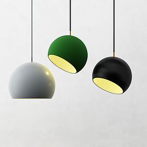 北歐半圓球吊燈模型