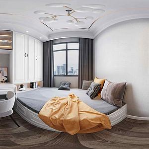 全景臥室模型