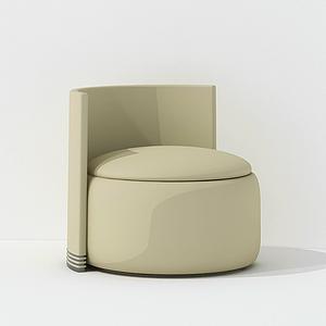 現代簡歐休閑椅模型