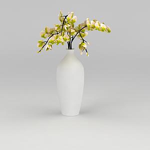 白色素凈花瓶模型