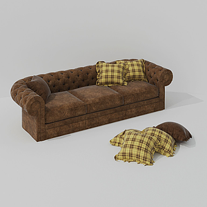 現代舒適蜂巢式休閑沙發模型