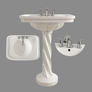 現代衛浴洗手盆模型
