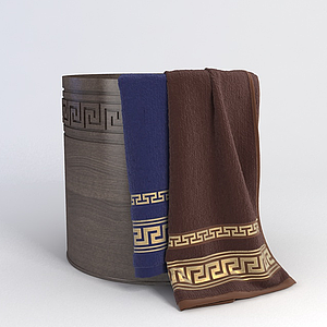 木桶毛巾組合模型