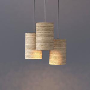 現代簡約圓柱筒式吊燈模型