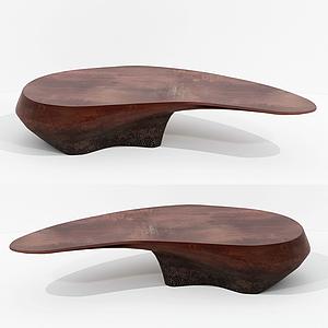 現代設計不規則茶桌休閑桌模型